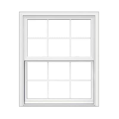 V 2500 Vinyl Replacement White Exterior Double Hung Window Rough Opening 32 In X 38 Actual 31 5 37