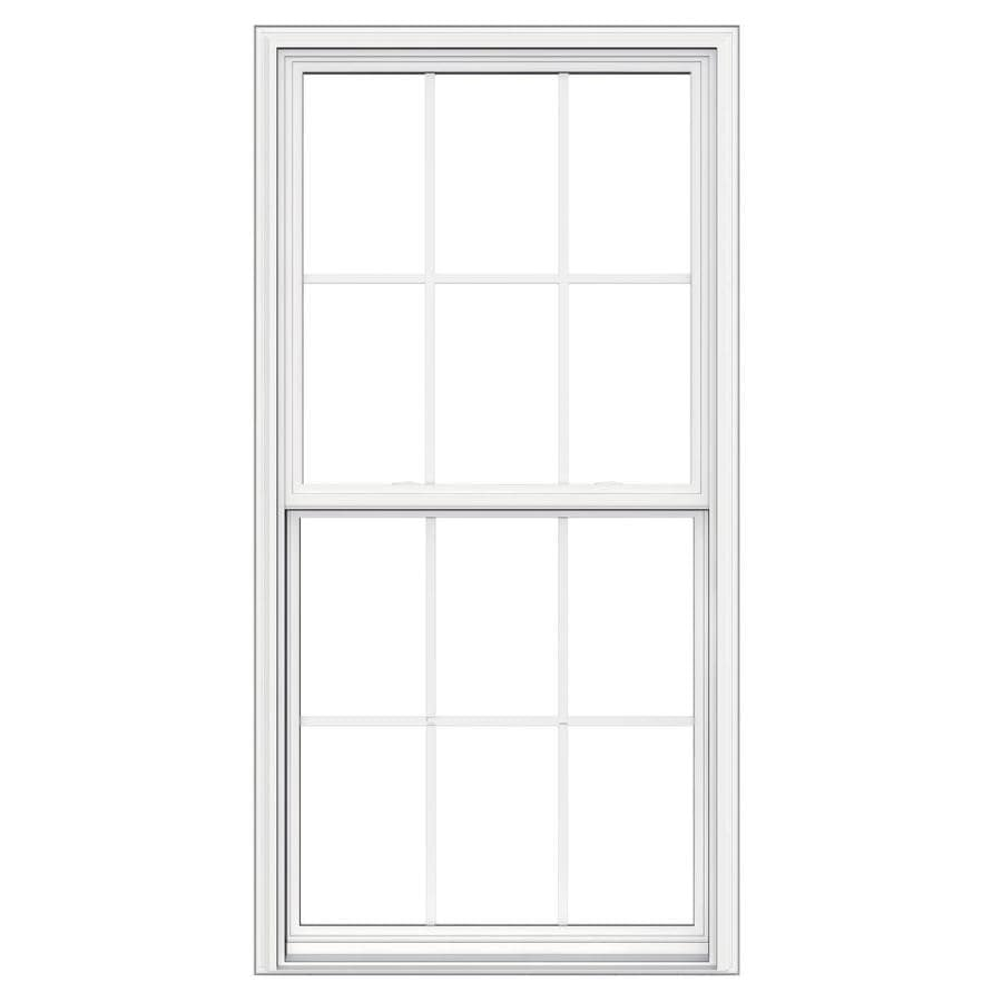 JELD-WEN V-2500 Vinyl Double Pane Double Strength Replacement Double Hung Window (Rough Opening: 32-in x 62-in; Actual: 31.5-in x 61.5-in)