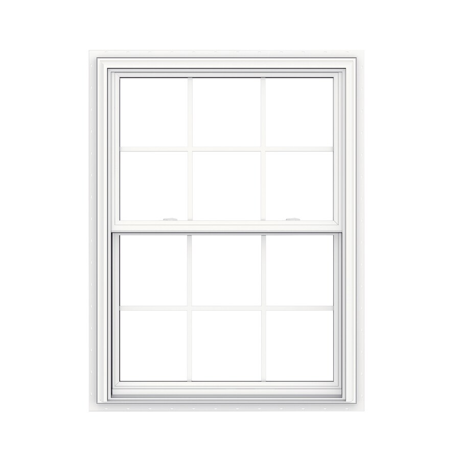 JELD-WEN V-2500 Vinyl Double Pane Double Strength New Construction Double Hung Window (Rough Opening: 36-in x 48-in; Actual: 35.5-in x 47.5-in)