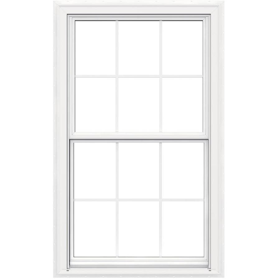 JELD-WEN V-2500 Vinyl Double Pane Double Strength New Construction Egress Double Hung Window (Rough Opening: 36-in x 60-in; Actual: 35.5-in x 59.5-in)