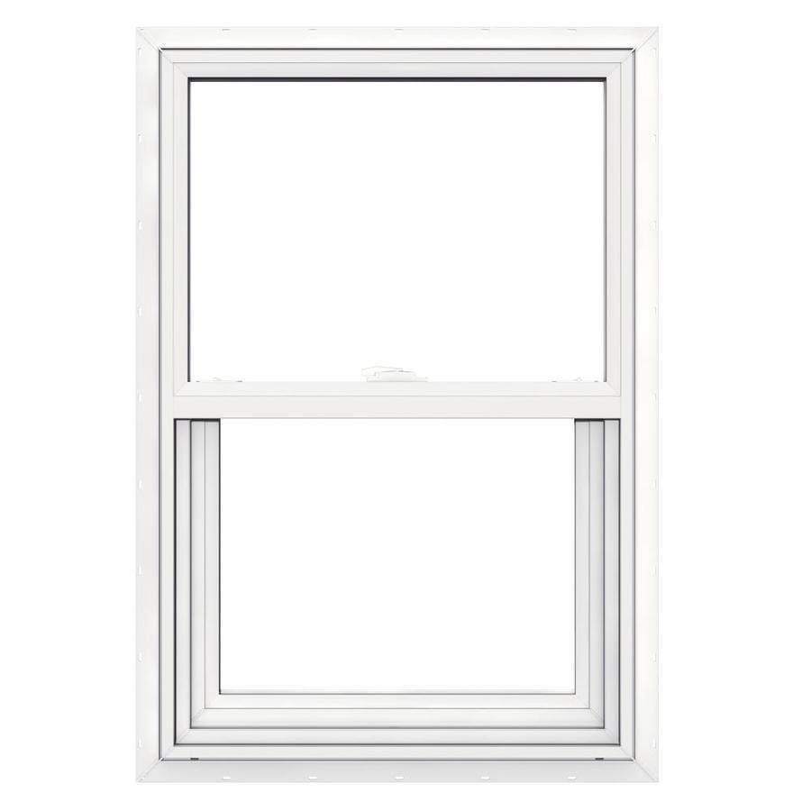 JELD-WEN V2500 Vinyl Double Pane Double Strength Single Hung Window (Rough Opening: 22-in x 33-in; Actual: 21.5-in x 32.5-in)