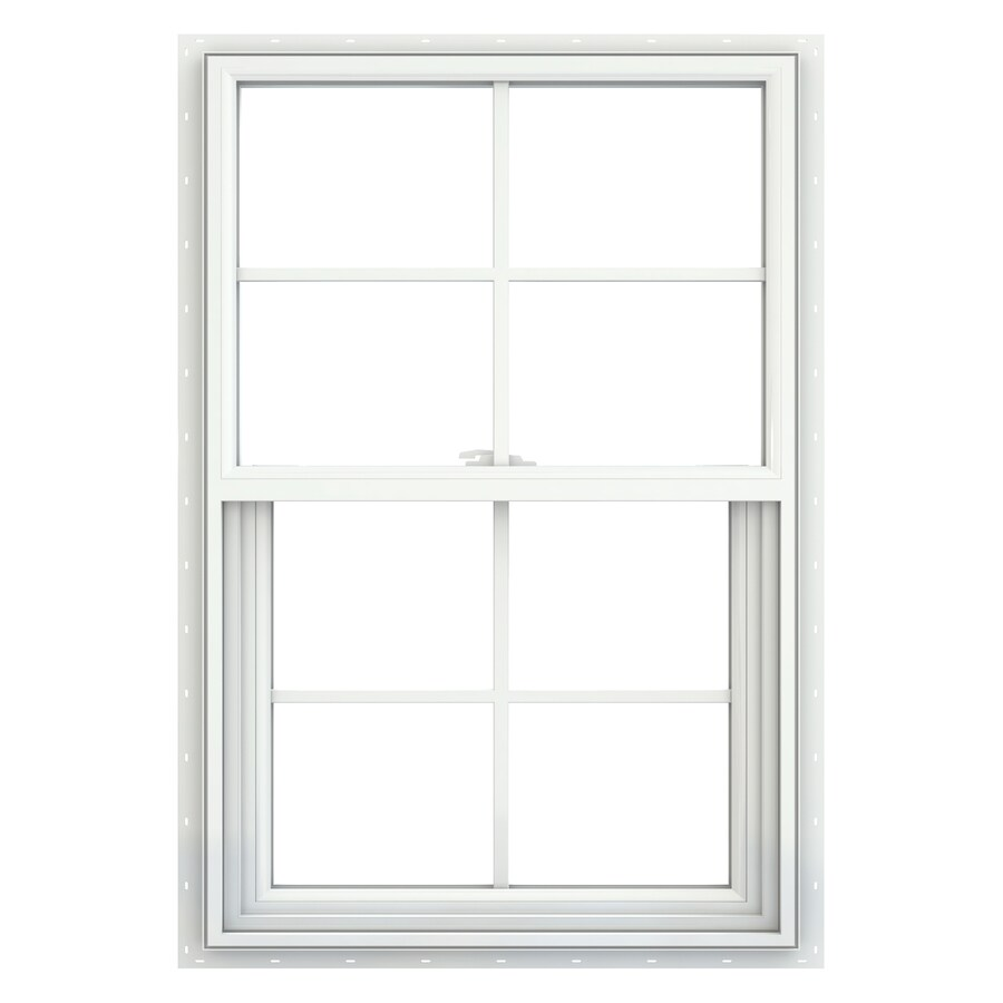 JELD-WEN V-2500 Vinyl Double Pane Double Strength New Construction Single Hung Window (Rough Opening: 22-in x 33-in; Actual: 21.5-in x 32.5-in)