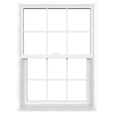 V 2500 Vinyl New Construction White Exterior Single Hung Window Rough Opening 30 In X 41 Actual 29 5 40