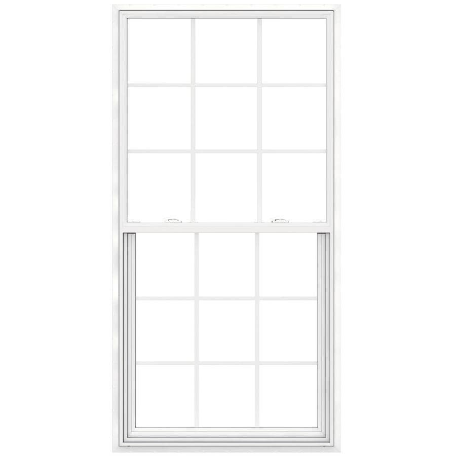 JELD-WEN V-2500 Vinyl Double Pane Double Strength New Construction Egress Single Hung Window (Rough Opening: 36-in x 72-in; Actual: 35.5-in x 71.5-in)