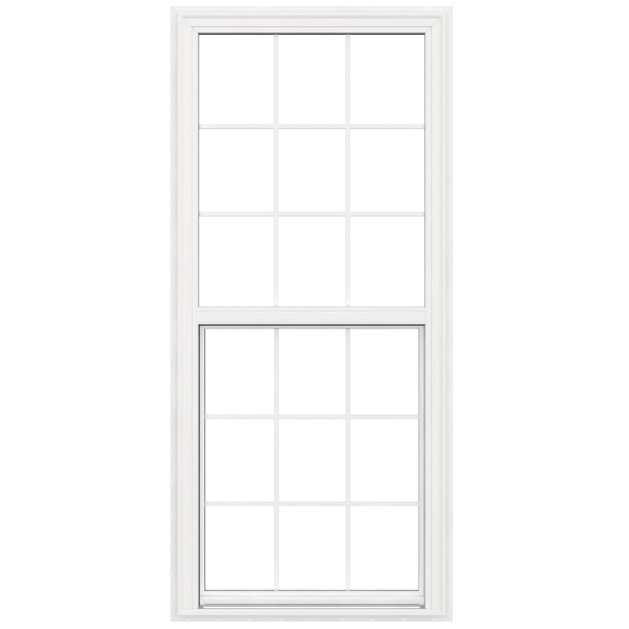 JELD-WEN V-2500 Vinyl Double Pane Double Strength New Construction Egress Single Hung Window (Rough Opening: 34-in x 77-in; Actual: 33.5-in x 76.5-in)