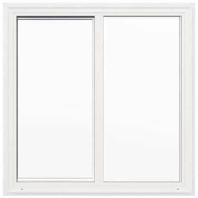 V 2500 Left Operable Vinyl New Construction White Exterior Sliding Window Rough Opening 48 In X Actual 47 5