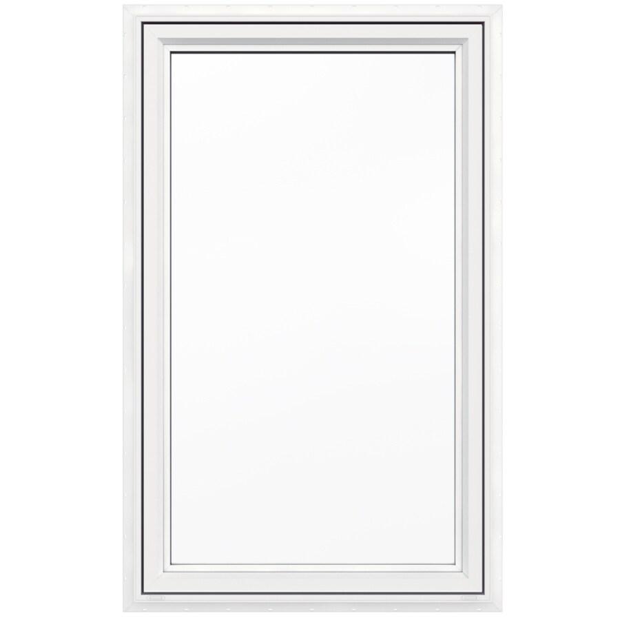 Lowe S Casement Windows : Shop jeld wen v lite vinyl new construction white