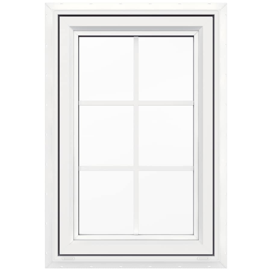 JELD-WEN V-4500 1-lite Vinyl Double Pane Double Strength New Construction Casement Window (Rough Opening: 24-in x 36-in Actual: 23.5-in x 35.5-in)