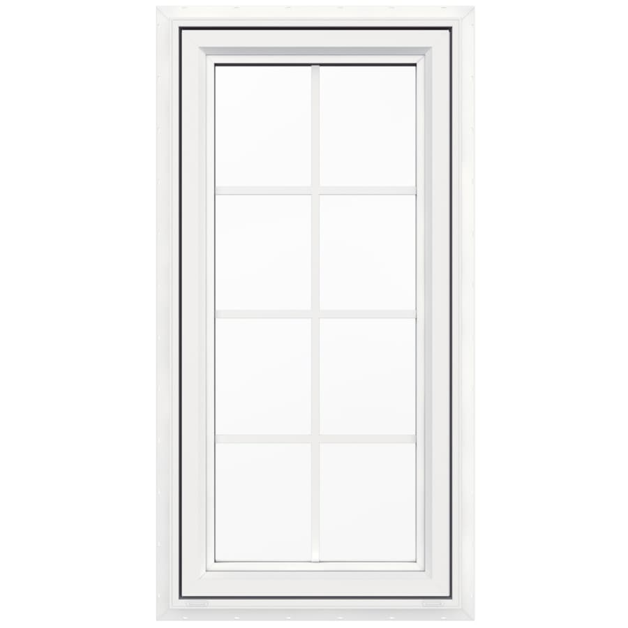 shop jeld wen v 4500 1 lite vinyl new construction white casement window rough opening 24 in x. Black Bedroom Furniture Sets. Home Design Ideas