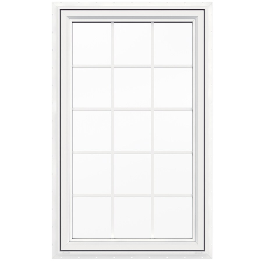 JELD-WEN V-4500 1-lite Vinyl Double Pane Double Strength New Construction Casement Window (Rough Opening: 36-in x 60-in Actual: 35.5-in x 59.5-in)