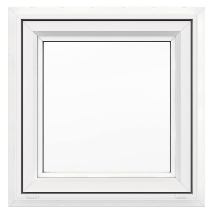 JELD-WEN V4500 Single Vinyl Double Pane Strength Awning Window (Rough Opening: 24-in x 24-in; Actual: 23.5-in x 23.5-in)