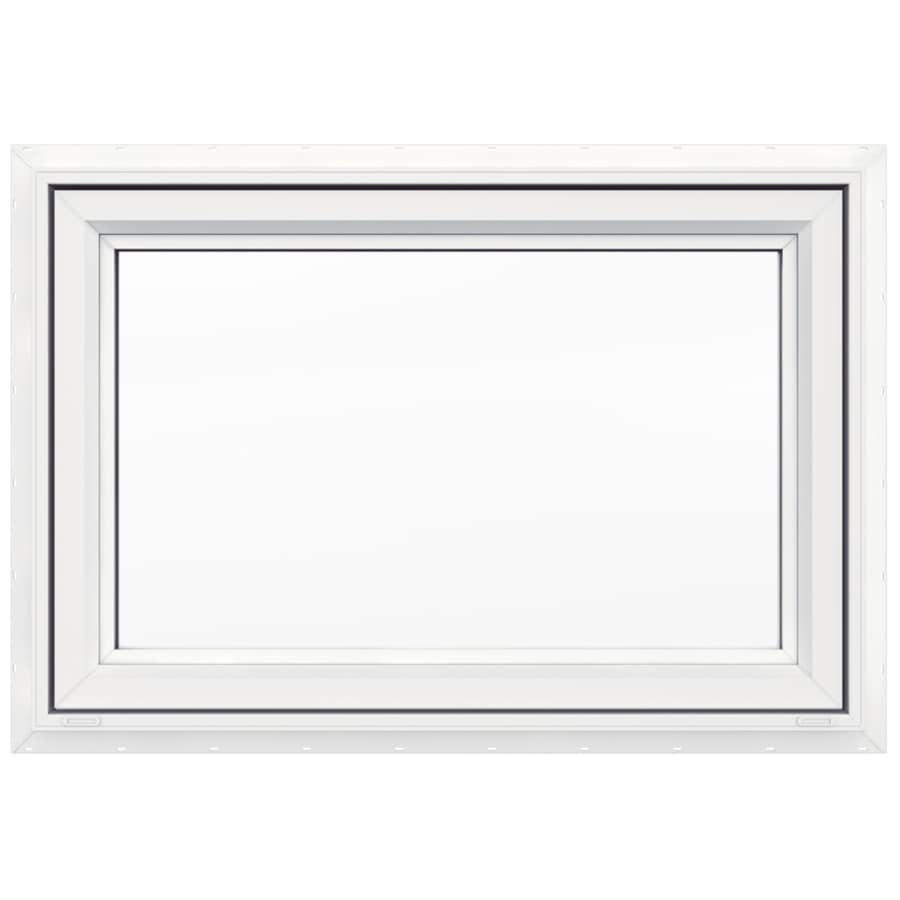 JELD WEN V4500 Single Vinyl Double Pane Strength Awning Window (Rough  Opening: 36