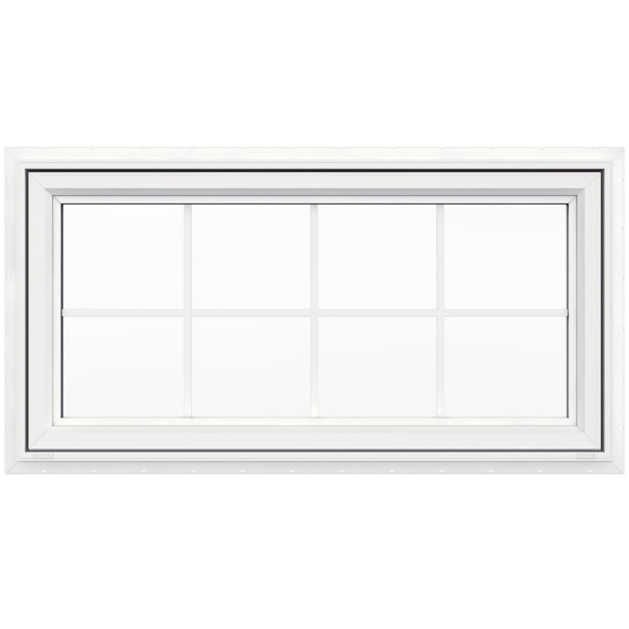 Double Awning Windows : Shop jeld wen v single vinyl double pane strength