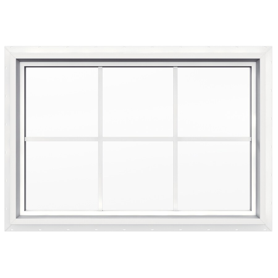 JELD-WEN V-4500 Rectangle New Construction Window (Rough Opening: 36.0-in x 24.0-in; Actual: 35.5-in x 23.5-in)