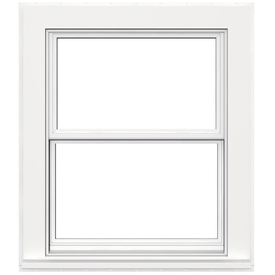 JELD-WEN V4500 Vinyl Double Pane Double Strength Double Hung Window (Rough Opening: 32-in x 38-in; Actual: 31.5-in x 37.5-in)