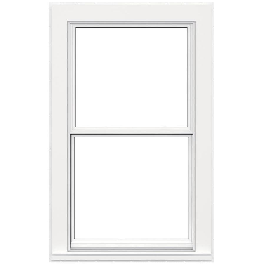 JELD-WEN V4500 Vinyl Double Pane Double Strength Double Hung Window (Rough Opening: 32-in x 54-in; Actual: 31.5-in x 53.5-in)