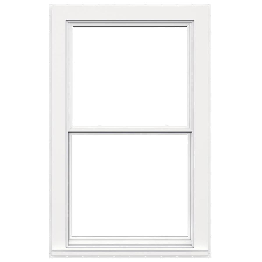 JELD-WEN Flat Casing Vinyl Double Pane Double Strength Replacement Egress Double Hung Window (Rough Opening: 36-in x 60-in; Actual: 35.5-in x 59.5-in)
