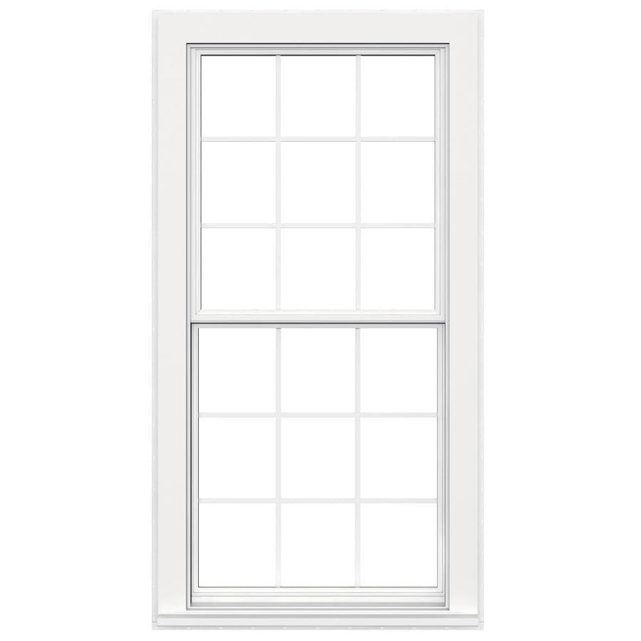 JELD-WEN Flat Casing Vinyl Double Pane Double Strength Replacement Egress Double Hung Window (Rough Opening: 36-in x 72-in; Actual: 35.5-in x 71.5-in)