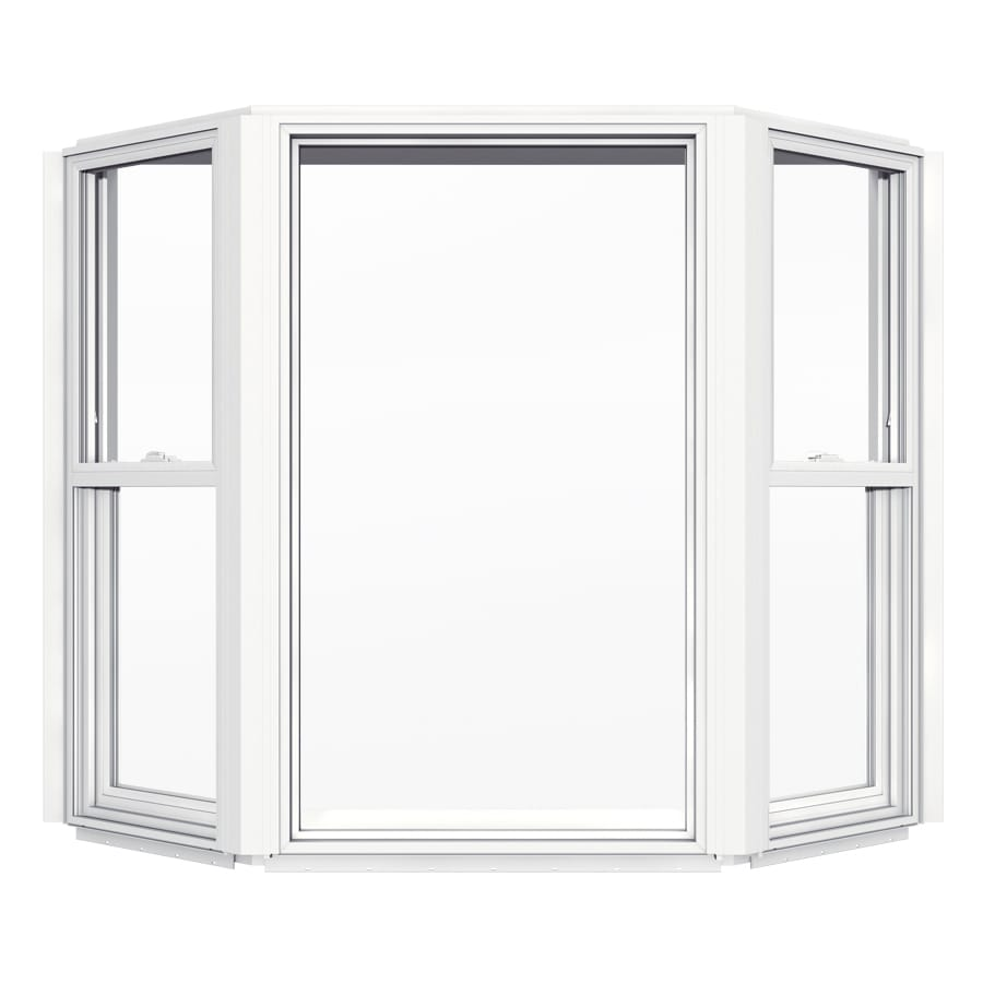Shop jeld wen v2500 single hung vinyl double pane double for Best new construction windows
