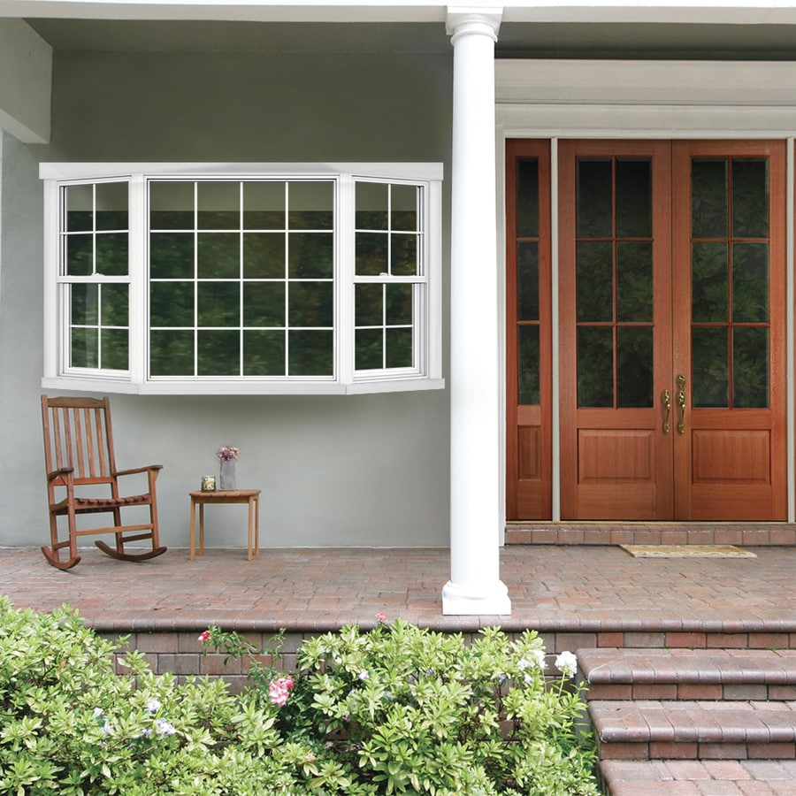 Jeld Wen V 2500 Single Hung Vinyl New Construction White Bay Window
