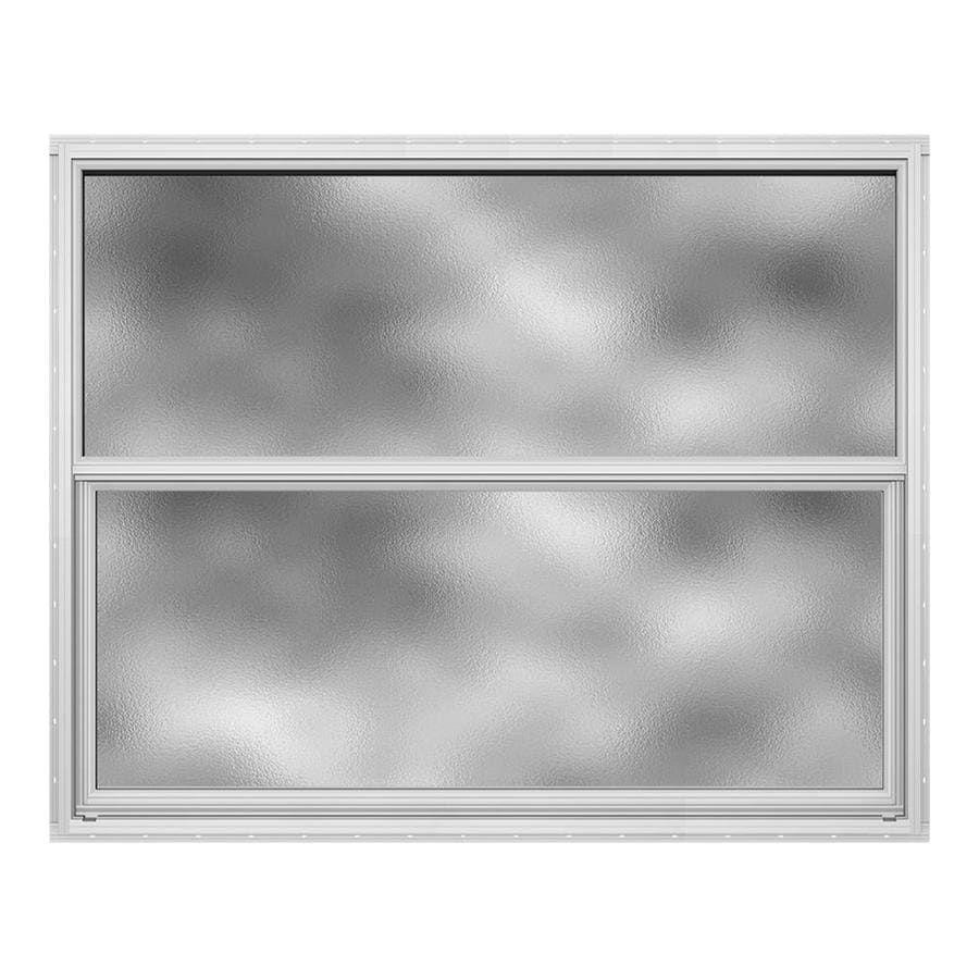 JELD-WEN Builders Aluminum Single Pane Annealed New Construction Single Hung Window (Rough Opening: 36.5-in x 25.25-in; Actual: 36-in x 25-in)