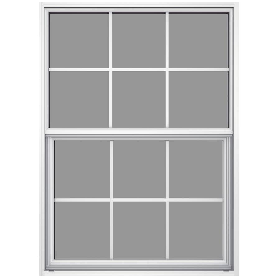 JELD-WEN Builders Aluminum Aluminum Single Pane Annealed New Construction Single Hung Window (Rough Opening: 36.5-in x 37.625-in; Actual: 36-in x 37.375-in)