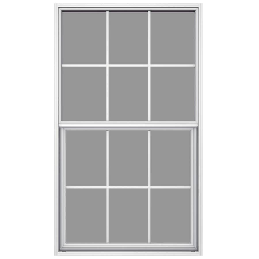 JELD-WEN Builders Aluminum Aluminum Single Pane Annealed New Construction Single Hung Window (Rough Opening: 36.5-in x 49.875-in; Actual: 36-in x 49.625-in)