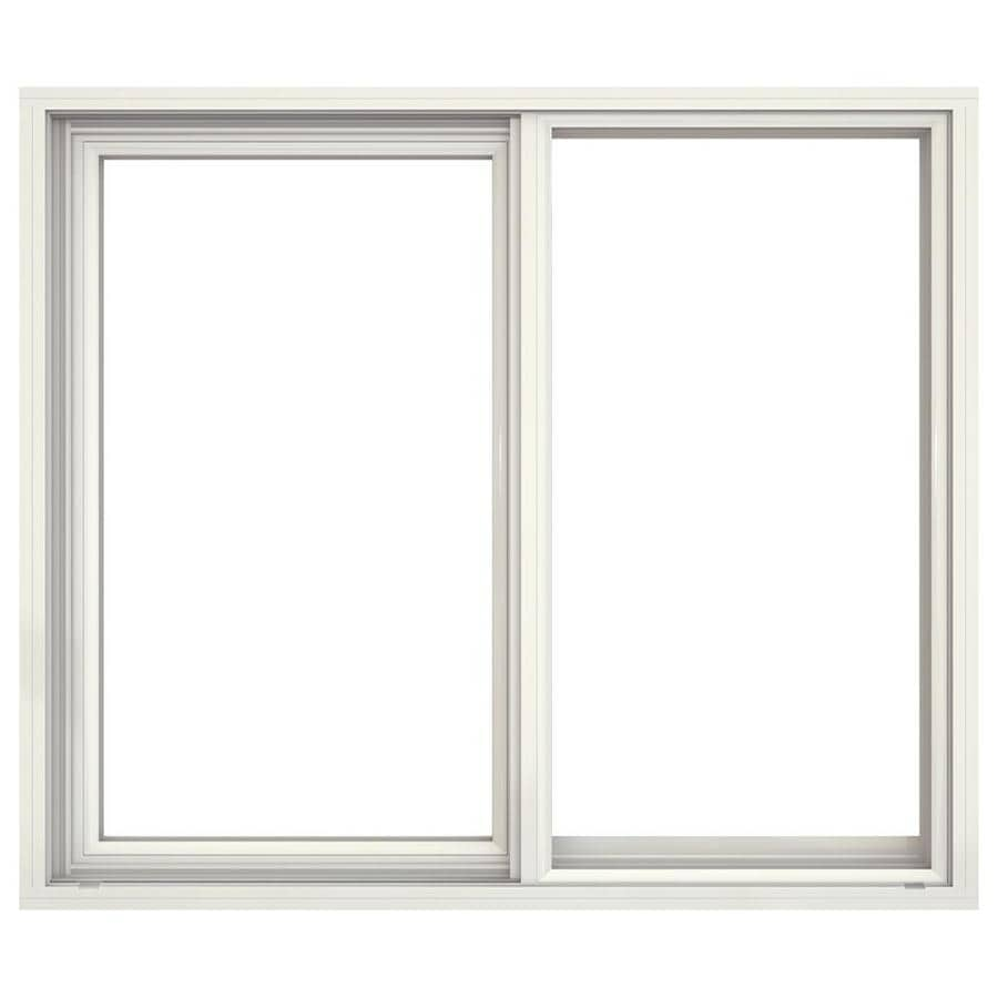 JELD-WEN Builders Aluminum Left-Operable Aluminum Single Pane Annealed New Construction Sliding Window (Rough Opening: 36.5-in x 25.25-in; Actual: 36-in x 25-in)