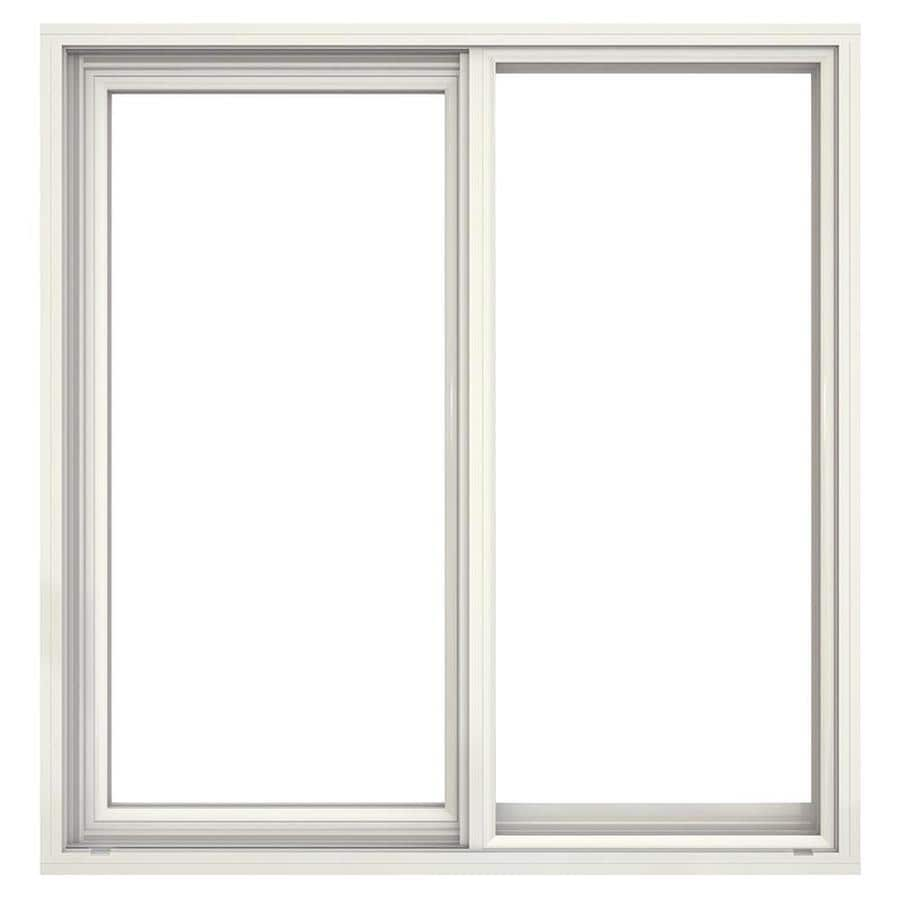 JELD-WEN Builders Aluminum Left-Operable Aluminum Single Pane Annealed New Construction Sliding Window (Rough Opening: 36.5-in x 37.625-in; Actual: 36-in x 37.375-in)