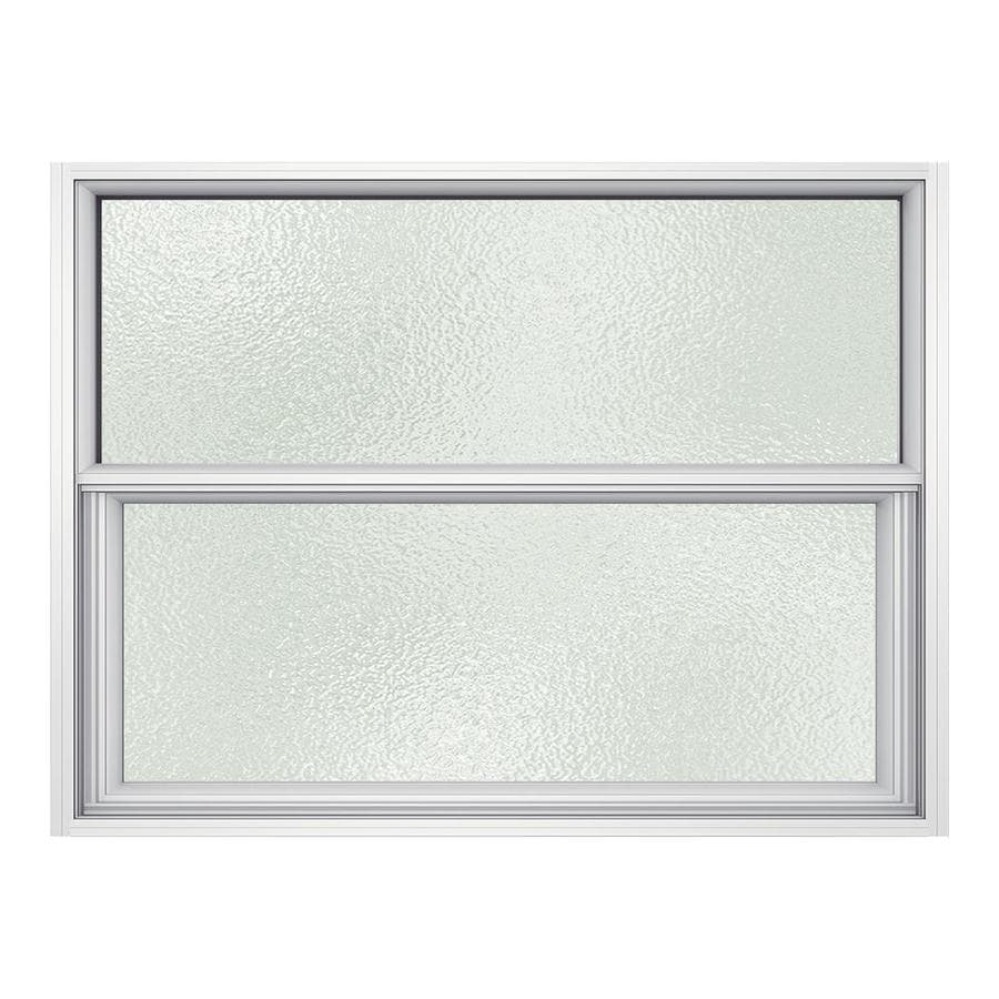 JELD-WEN Premium Atlantic Aluminum Aluminum Single Pane Impact Single Hung Window (Rough Opening: 36.5-in x 25.25-in; Actual: 36-in x 25-in)