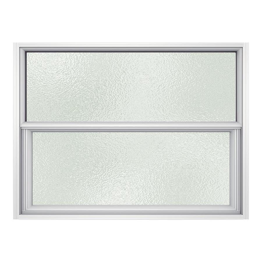 JELD-WEN Premium Atlantic Aluminum Aluminum Single Pane Impact New Construction Single Hung Window (Rough Opening: 36.5-in x 25.25-in; Actual: 36-in x 25-in)