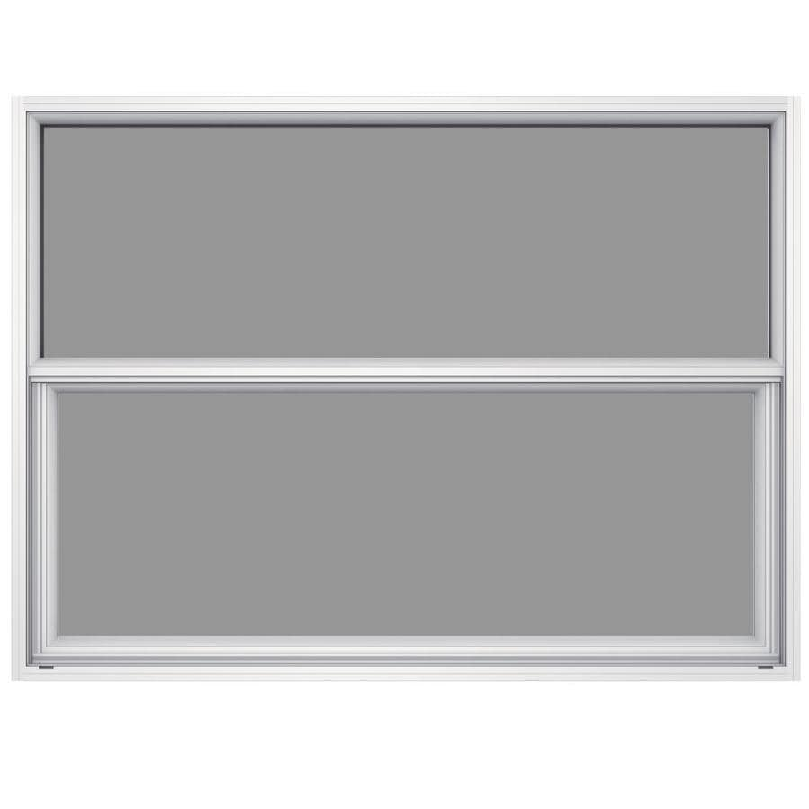 JELD-WEN Premium Atlantic Aluminum Aluminum Single Pane Impact Single Hung Window (Rough Opening: 52.625-in x 37.625-in; Actual: 52.125-in x 37.375-in)