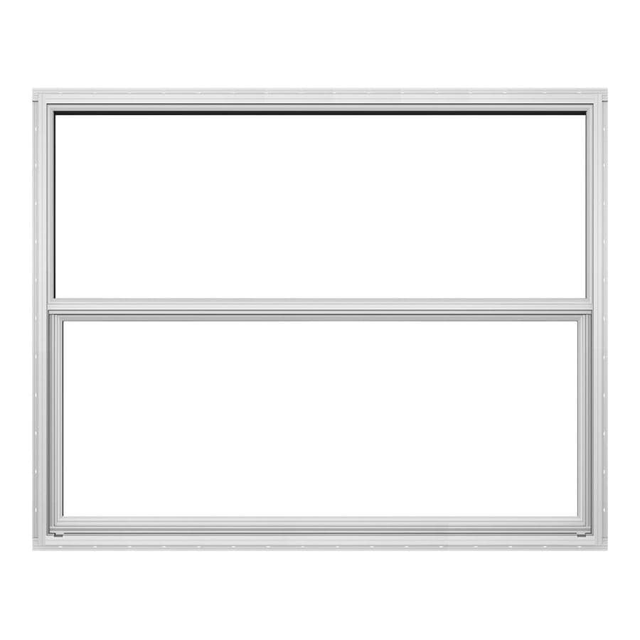 JELD-WEN Builders Aluminum Single Pane Double Strength Single Hung Window (Rough Opening: 36.5-in x 25.25-in; Actual: 36-in x 25-in)