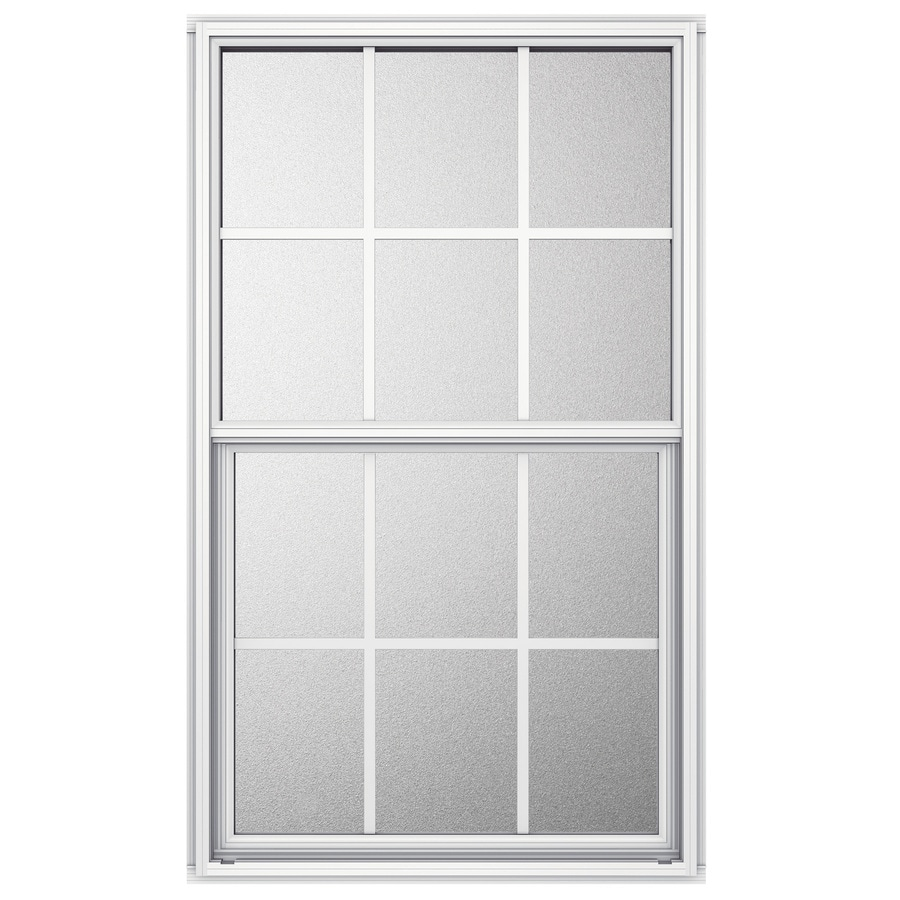 JELD-WEN Aluminum Single Pane Single Strength Single Hung Window (Rough Opening: 26-in x 25.25-in; Actual: 25.5-in x 25-in)