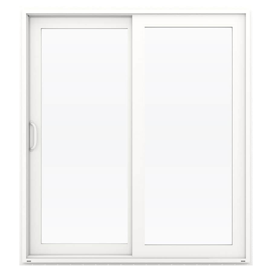 Shop Jeld Wen V 4500 71 5 In X 79 5 In Left Hand White Vinyl Sliding Patio Door With Screen At