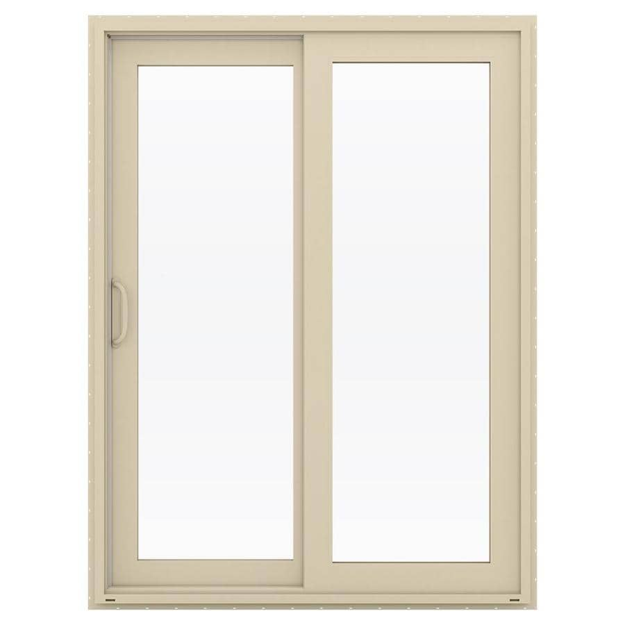 JELD-WEN V-4500 59.5-in x 79.5-in Left-Hand Vinyl Sliding Patio Door with Screen
