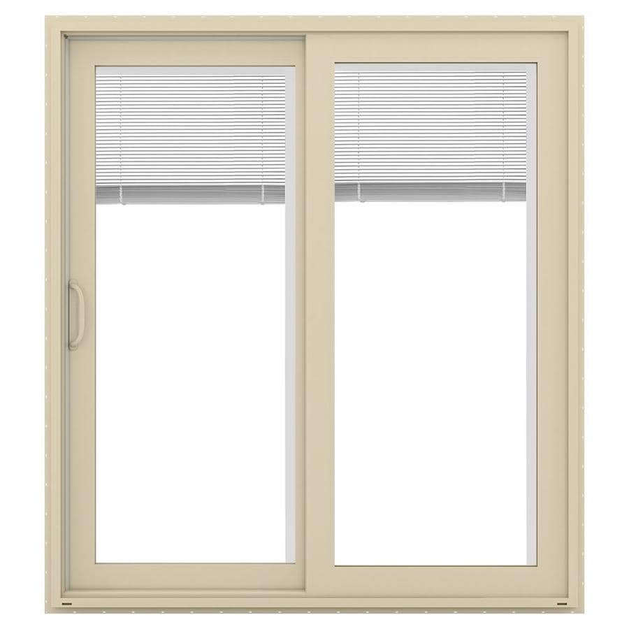 Shop jeld wen v 4500 71 5 in x 79 5 in blinds between the for White sliding patio doors