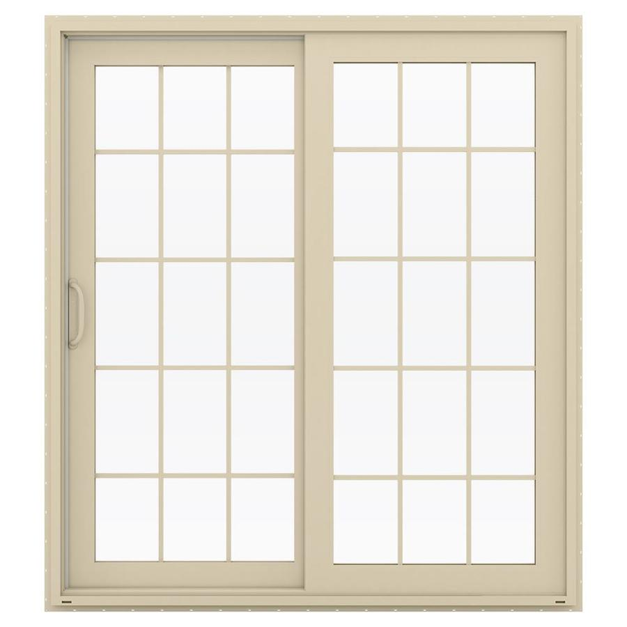 Shop jeld wen v 4500 71 5 in 15 lite glass almond vinyl for 15 lite door