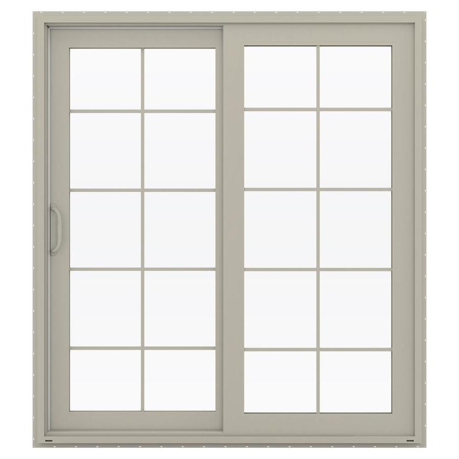 JELD-WEN V-4500 71.5-in x 79.5-in Left-Hand Vinyl Sliding Patio Door with Screen