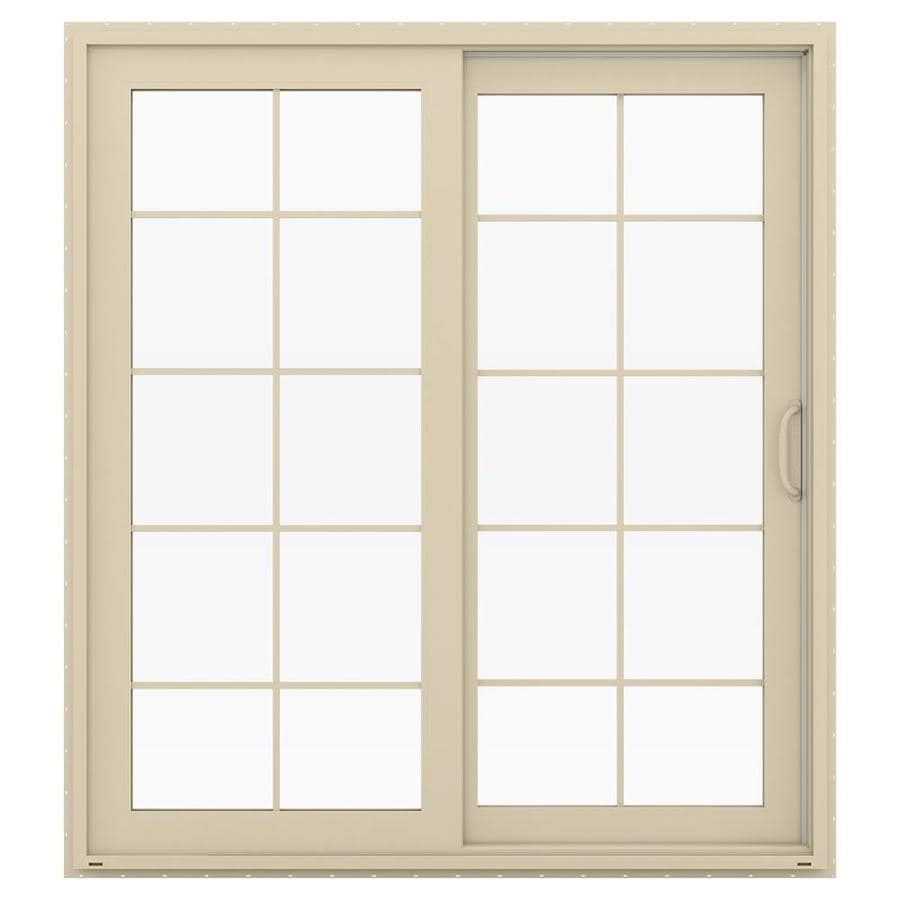 shop jeld wen v 4500 71 5 in x 79 5 in right hand vinyl sliding patio door with screen at. Black Bedroom Furniture Sets. Home Design Ideas