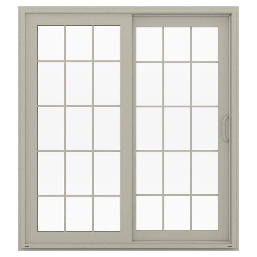 JELD-WEN V-4500 71.5-in x 79.5-in Right-Hand Vinyl Sliding Patio Door with Screen