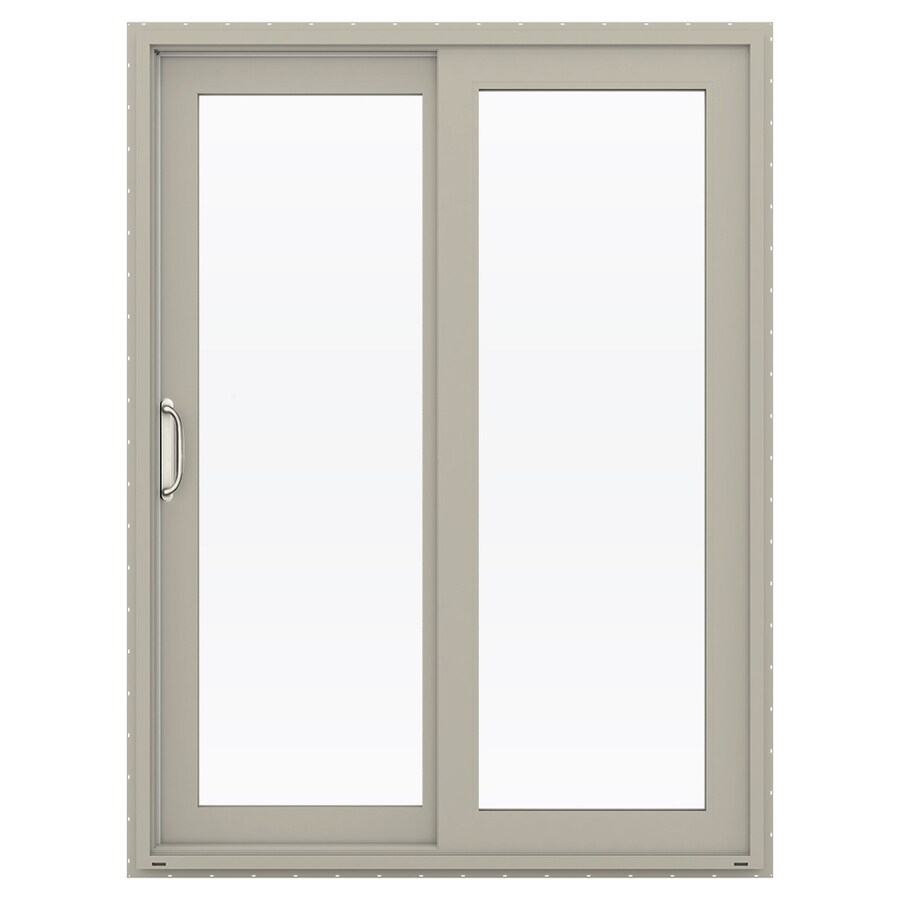 Shop Jeld Wen V 4500 595 In X 795 In Left Hand Vinyl Sliding Patio