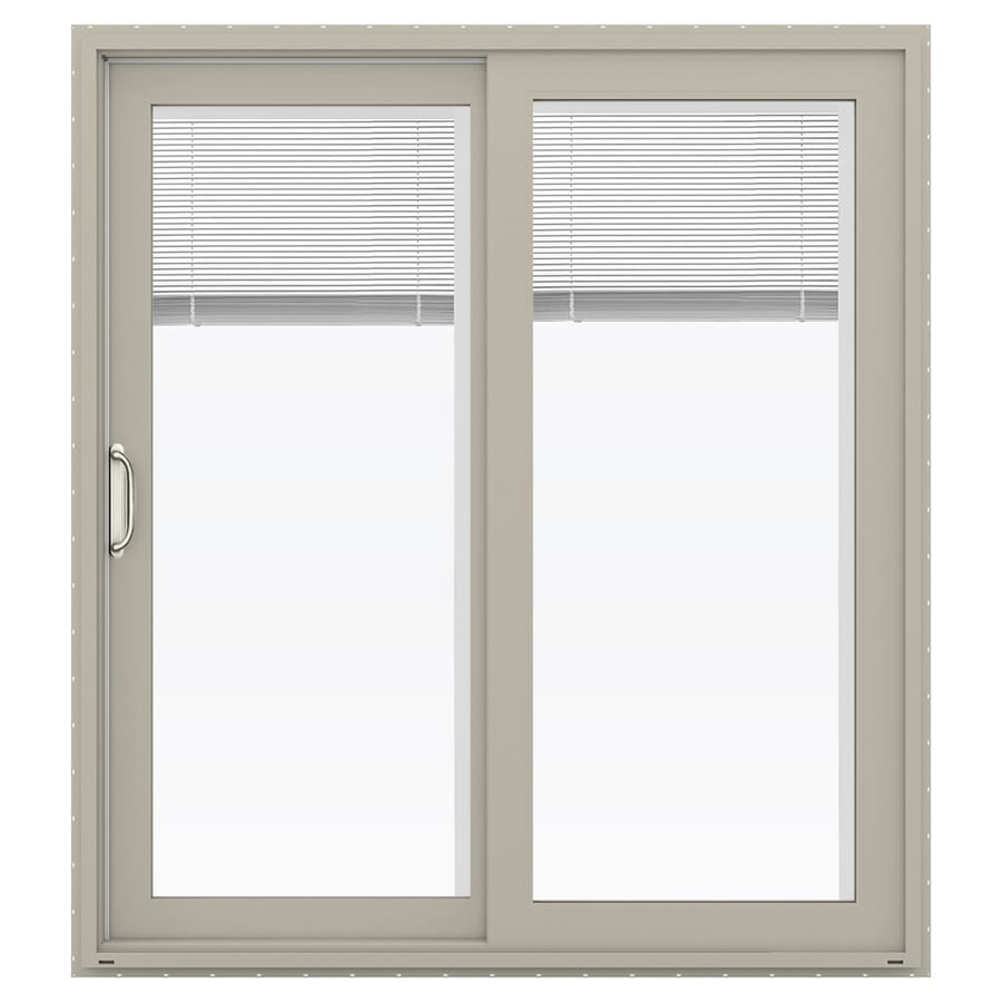 Shop Jeld Wen Blinds Between The Glass Desert Sand Vinyl Sliding