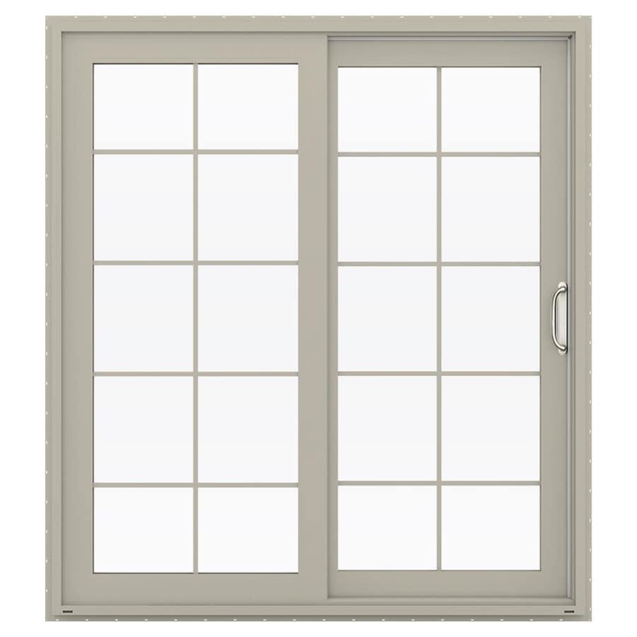 JELD-WEN V-4500 71.5-in x 79.5-in Right-Hand Vinyl Sliding Patio Door with Screen