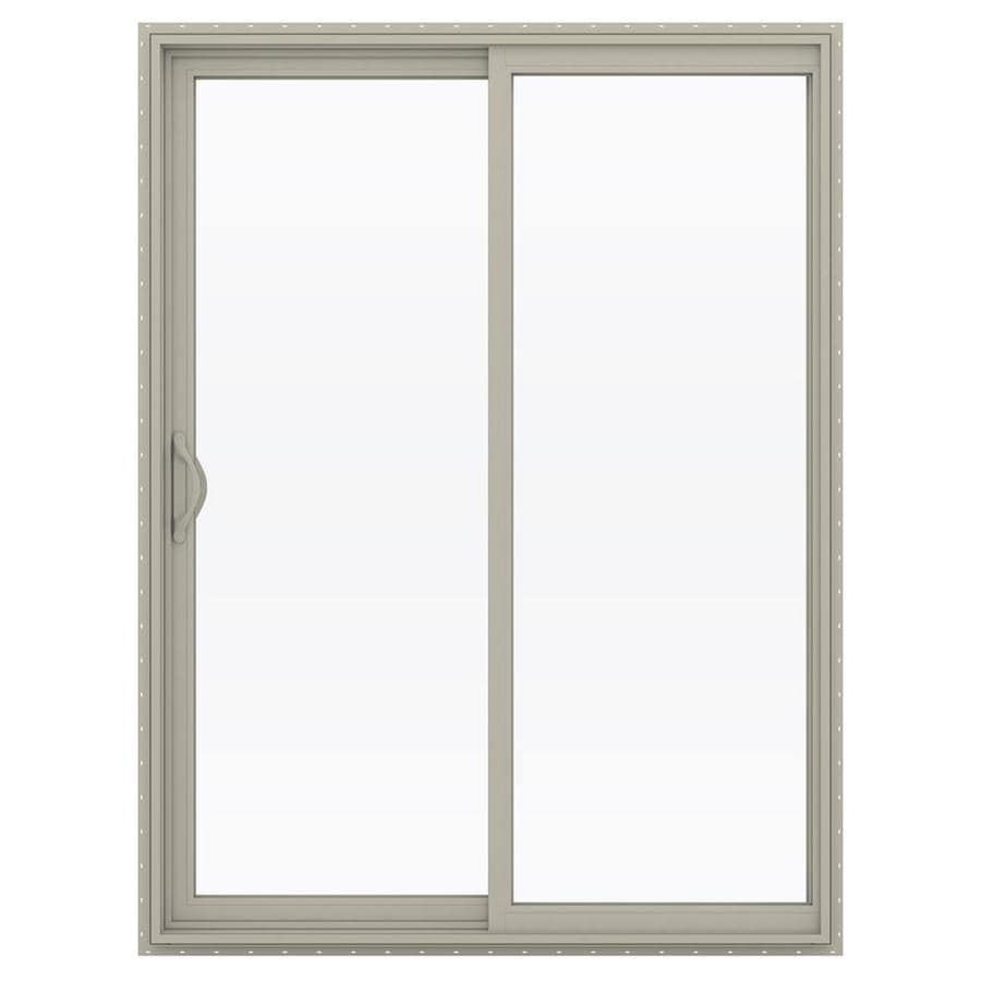 JELD-WEN V-2500 59.5-in x 79.5-in Left-Hand Vinyl Sliding Patio Door with Screen