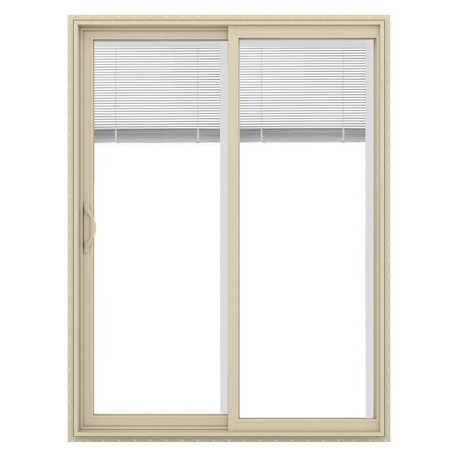 Shop jeld wen v 2500 59 5 in blinds between the glass for Lowes patio doors with built in blinds