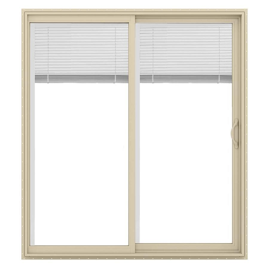Shop jeld wen v 2500 71 5 in blinds between the glass for White sliding patio doors