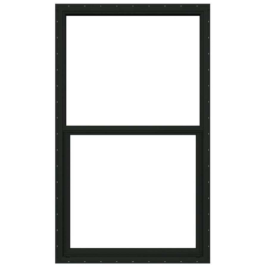 JELD-WEN Builders Florida Aluminum Aluminum Double Pane Double Strength Single Hung Window (Rough Opening: 26-in x 37.875-in; Actual: 25.5-in x 37.375-in)