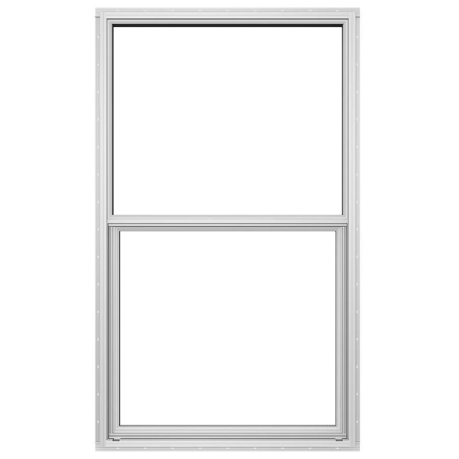 JELD-WEN Builders Florida Aluminum Double Pane Double Strength New Construction Single Hung Window (Rough Opening: 36.5-in x 62.5-in; Actual: 36-in x 62-in)
