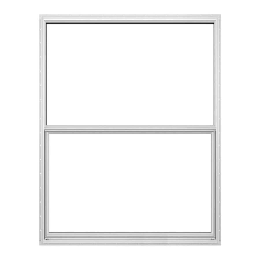 JELD-WEN Builders Florida Aluminum Aluminum Double Pane Double Strength Single Hung Window (Rough Opening: 24-in x 36-in; Actual: 23.5-in x 35.5-in)